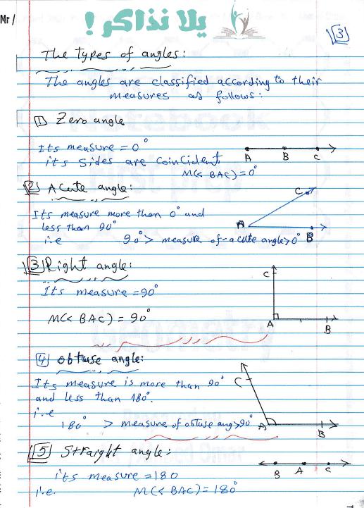 ملزمة هندسة لغات للصف الاول الاعدادى ترم اول