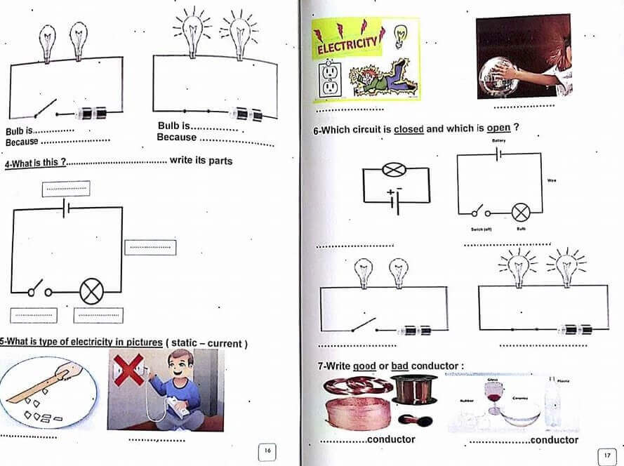 ملزمة science للصف الثاني الابتدائي الترم الأول