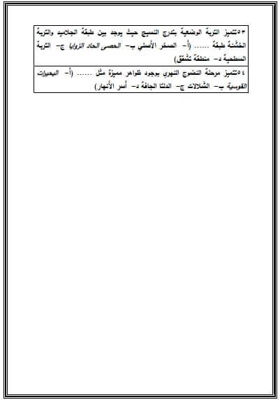 مراجعة نهائية جيولوجيا للصف الثالث الثانوي
