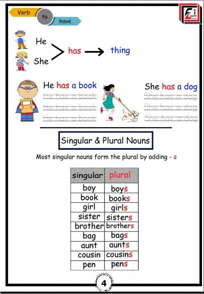 مذكرة لغة انجليزية KG 2 plus Term 1