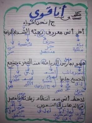 شيتات تأسيس أساليب لغة عربية للصفوف الاولى3
