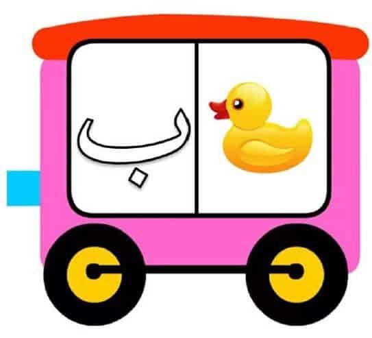 قطار الحروف الهجائية بطريقة مبسطة للأطفال 1