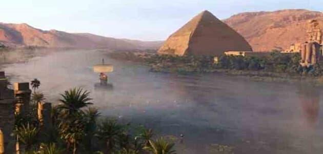 موضوع تعبير عن نهر النيل بالعناصر والاستشهاديات